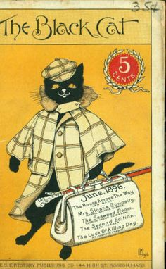 illustrationsofcats: Black Cat Magazine  fun to frame for a yellow accent piece
