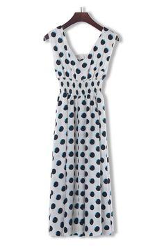 Vintage Wave Point Chiffon Dress