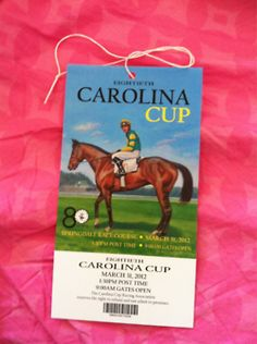 wanted to go to the Carolina Cup so bad - one day!