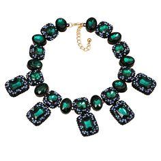Luxury Gemstone Bib Statement Necklace