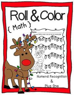Number Recognition and Plus One; Roll & Color Math