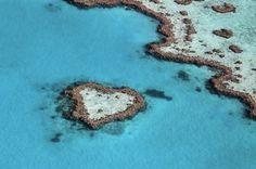 Heart reef impact in the tropical - Great Barrier Reef