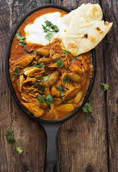 Indian Spiced Stew with Chicken and Potatoes in a Tomato Cream Sauce