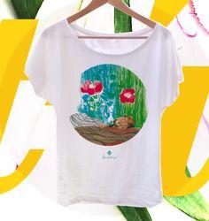 Nuevas camisetas con el león y su primavera #tshirt #camisetasoriginales #camisetasilustradas #style #girl #spring #prints #primavera