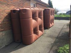 4 X 530 gallon slim line tank #rainwaterharvesting system