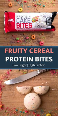 Fruity Cereal Protein Bites Low Sugar | High Protein. These healthy protein bites are great as a on the go breakfast, a healthy snack, or a low sugar dessert. One of the best protein bars you can buy. Cereal bars that are sure to satisfy your sweet tooth cravings. #proteinbites #proteinbars #bestproteinbars #healthysnack #onthegobreakfast #lowsugar #lowsugardessert #healthybreakfast #sweettooth #healthydessert #cerealbars #healthyproteinbites #quickbreakfast #easydessert Best Protein Bars, Protein Cake, Protein Bites, Healthy Protein, Protein Snacks, High Protein, Healthy Snacks, Low Sugar Desserts, Easy Desserts