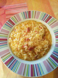 Risotto poivrons chorizo (Kina) - Recette Cuisine Companion