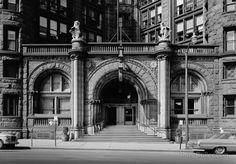 Doorway, Erie County Savings Bank, 16 Niagara Street, Buffalo, Erie, NY.