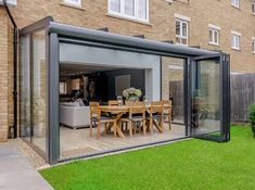 We added a luxurious garden room to this property in Surrey. Read the full case study to see how this project went – our installation team did a great job! House Extension Design, Glass Extension, House Design, Conservatory Design, Glass Conservatory, Lean To Conservatory, Garden Room Extensions, House Extensions, Glass House Garden