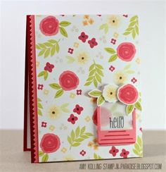 Beautiful! Wplus9 background.  Love the vellum & striped frame.  Stamp-n-Paradise: Gallery Idol 2013--Round 3