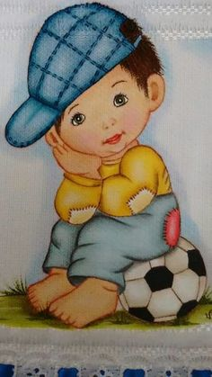 Desenho #pinturaentela Baby Painting, Fabric Painting, Cute Images, Cute Pictures, Emoji Coloring Pages, Cute Kids Pics, Blue Nose Friends, Crochet Towel, Hand Embroidery Flowers