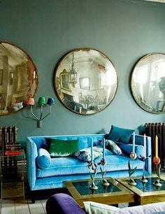 South Shore Decorating Blog: What I Love Today: Captain's Mirrors and Concave Mirrors