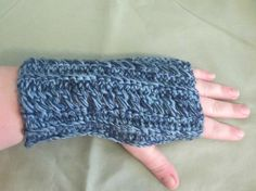 Up Cycled Fingerless Gloves Gauntlets by NiftyNeedlework on Etsy