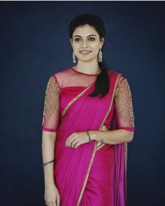 Bored of wearing traditional blouses do not miss these trendy boat neck blouse designs latest & trendy boat neck blouse designs - top boat neck patterns Blouse Back Neck Designs, Silk Saree Blouse Designs, Fancy Blouse Designs, Bridal Blouse Designs, Latest Blouse Designs, Traditional Blouse Designs, Boat Neck Designs Blouses, Net Saree Blouse, Stylish Blouse Design