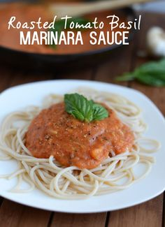 Homemade [Clean Eating] Roasted Tomato Basil Marinara Sauce