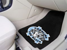 Protect your car or truck floors with the North Carolina Tar Heels Two-piece Carpet Car Floor Mats.  Made in the USA.