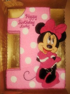 Minnie Mouse number one cake By Monnie's Creative Sweets Birthday Celebration Quotes, Birthday Wishes For Kids, Birthday Presents For Mom, Baby Girl First Birthday, Birthday Ideas, Torta Minnie Mouse, Minnie Mouse Cake, 3rd Birthday Cakes, Minnie Birthday