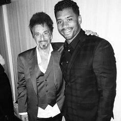 Moment. Al Pacino and @DangeRussWilson #AnyGivenSunday. @Carineroitfeld Dinner.