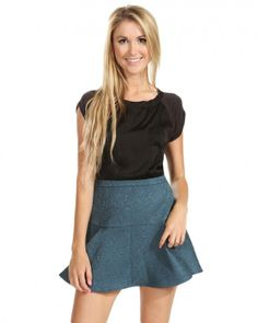 SugarLips Brocade Blue Skirt at Viomart.com