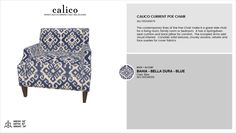 Calico Current Poe Chair in Bahia - Bella Dura - Blue