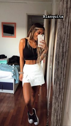 Night Outfits, New Outfits, Summer Outfits, Fashion Outfits, Womens Fashion, Outfits With Converse, Cute Casual Outfits, Casual Looks, Instagram