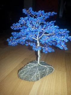 Baum 2 Blau by Karo1987.deviantart.com on @DeviantArt