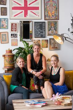(L to R) Zoe Jackson, Stephanie Hugan and Hilary Bellew of Melbourne events company The Design Depot