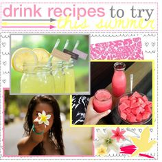 ~ drink recipes to try this summer