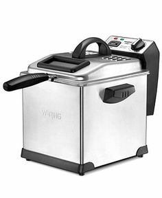 Waring DF175 Deep Fryer, 3L Digital - Electrics - Kitchen - Macy's. has great reviews too just like the Cuisinart DF. $69.99