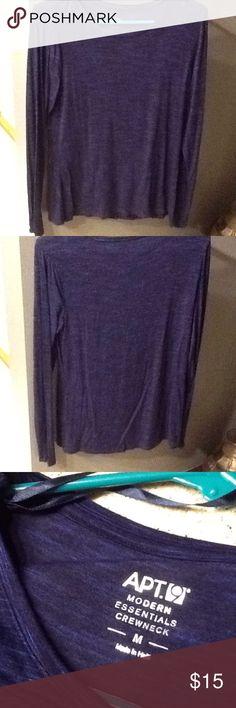 Long sleeve tee Apt. 9, size medium, crew neck, long sleeve, blue/black, never worn Apt. 9 Tops Tees - Long Sleeve