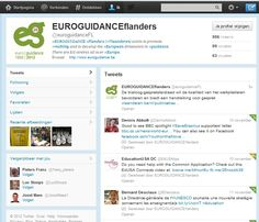 2012 EUROGUIDANCE and social media: the Twitter page of EUROGUIDANCE Flanders Thing 1 Thing 2, 20 Years, Social Media, Learning, Twitter, Social Networks, Social Media Tips, Teaching, Studying