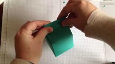 Milk carton style box with Stampin' Up!'s Gift Bag Punch Board by Sam Bracegirdle (video) Punch Art, 3d Craft, Craft Ideas, Milk Box, Paper Engineering, Carton Box, Envelope Punch Board, Homemade Cards, Stampin Up Cards