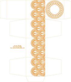 Don't Eat the Paste: Circle Dot Printable 2 inch cube box- 300 ppi