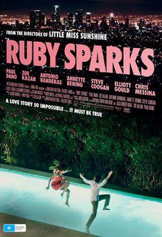 Zoe Kazan and Paul Dano in Ruby Sparks Poster.