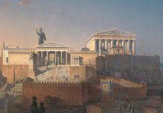 Neoclasicismo (Arquitectura) Representación de la Acrópolis de Atenas por el arquitecto y pintor Leo von Klenze