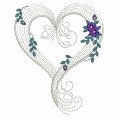 Rippled Floral Hearts 5 - 3 Sizes! | Floral - Flowers | Machine Embroidery Designs | SWAKembroidery.com Ace Points Embroidery