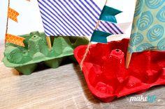 Επιμένοντας παραδοσιακά φτιάξαμε αυτά τα καραβάκια με αυγοθήκες. Τα γεμίσαμε λιχουδιές και τα προσφέραμε ως δώρο στα παιδιά. Party Favors, Xmas, Gift Wrapping, Tableware, Blog, Gifts, Greek, Gift Wrapping Paper, Dinnerware