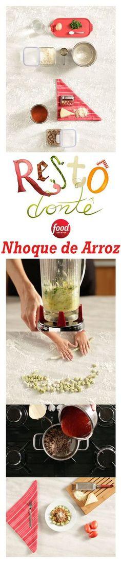 Sobrou Arroz na geladeira? Use-o para fazer este delicioso e criativo Nhoque de Arroz!
