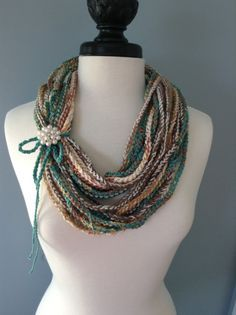 Crocheted Necklace Scarf by LKCreativeConcepts on Etsy, $18.00....hmmmm....