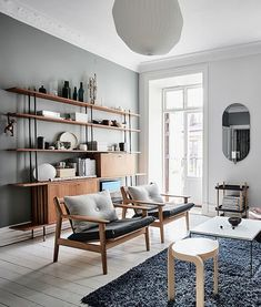 More than 70 design trends of heavenly Scandinavian living room - Scandinavian Design Trends - Have Best Home Decor ! Living Room Sofa, Apartment Living, Living Room Furniture, Living Room Decor, Dining Rooms, Modern Furniture, Apartment Nursery, Nursery Office, Bedroom Decor