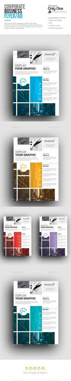 Corporate Flyer Design - Corporate Flyer Template PSD. Download here: http://graphicriver.net/item/corporate-flyer/16510525?s_rank=912&ref=yinkira