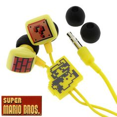 Super Mario Earbuds!  i want these for the gym!!