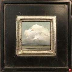 Little Cloud by Joseph Alleman, Oil, 5 x 5 Abstract Landscape, Landscape Paintings, Abstract Art, Abstract Paintings, Oil Paintings, Framed Art, Wall Art, Art Graphique, Love Art