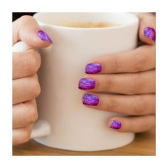 Hipster Purple Ombre Monkey Head Nebula Minx ?« Nail Wraps ($21) ❤ liked on Polyvore featuring beauty products, nail care, nail treatments and nails