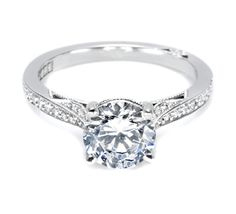 I love this ring from Tacori! Style no: 2638RDP75 I think this is my favorite so far! Love the diamond accents.