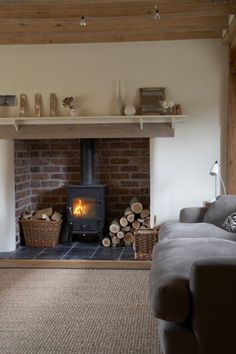 Perfect fireplace/stove niche