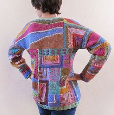 Template Patchwork Knitting