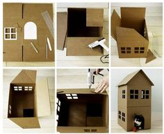 Cat house using cardboard