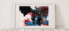 Shyvana  League of Legends Art Print  Lol Poster League of