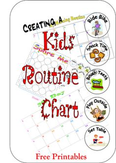 Cornerstone Confessions: Kids Routine Chart and Printables. an entire great post comparing different ways of making kids routine charts. awesome.